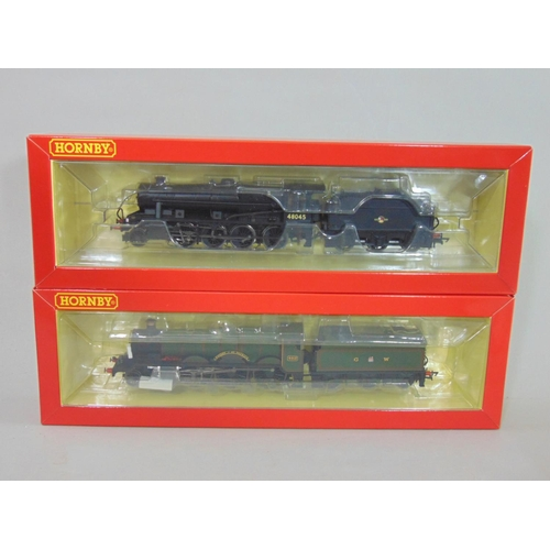 55 - 2 boxed  Hornby locomotives with tenders: R3564 BR -8-0 class 8F '48045' (with Fowler tender) and R3...