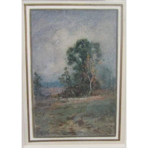 2302 - Attributed to Henry J Silvester Stannard RBA (British 1870-1951) - Landscape with trees and fence, w...