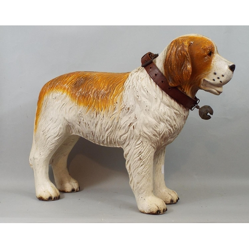 26 - A moulded composite model of a St Bernard dog, 40 cm in height...