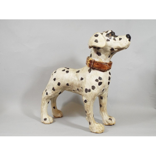 4 - A ceramic model of a standing dalmation, 37 cm in height...
