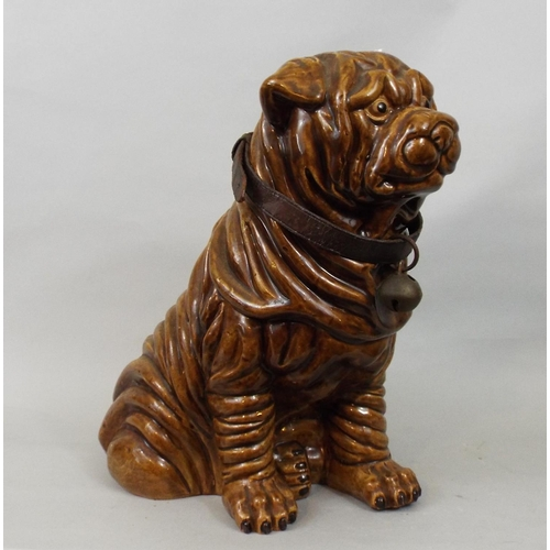 59 - A ceramic model of a Sharpei, 31cm high...