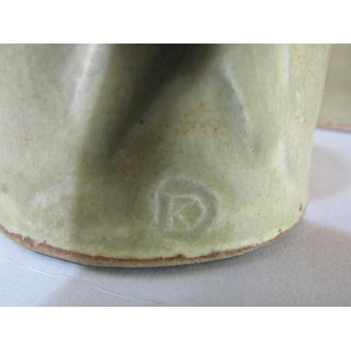 2 - Dorothy Kemp studio pottery celadon glaze pitcher and tankard set, together with a further jug (6)...