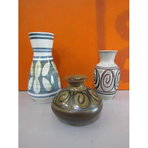 24 - Cinque Ports Pottery, The Monastery Rye - Three studio pottery vases, the largest 37cm high (3)...