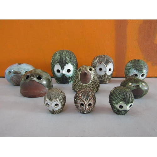 29 - Briglin Pottery - A collection of novelty figures and money boxes in the form of birds (10)...