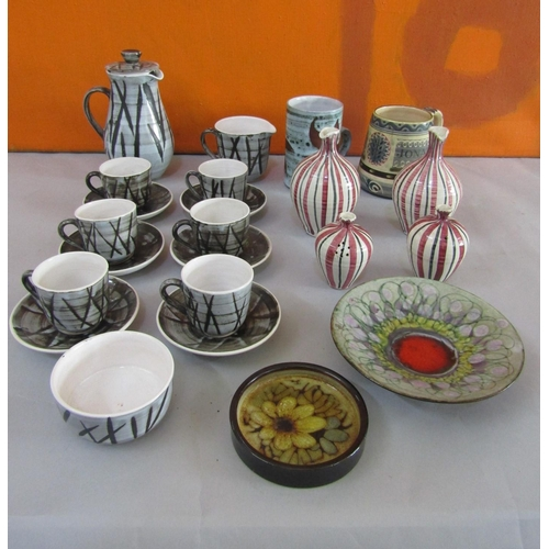 34 - A collection of London based studio pottery to include John Virando of Richmond Hill mug, Chelsea Po...