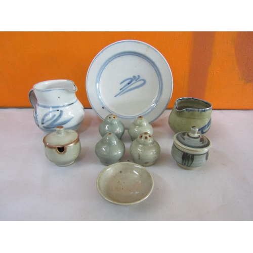 37 - Harry Davis & May for Crowan Pottery mixed collection of mainly celadon and Chinese type ceramic pot...