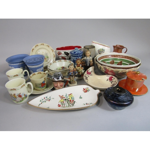 1016 - A collection of Royal Doulton Bunnykins nursery wares including three bowls, two mugs, a cup, a sauc...