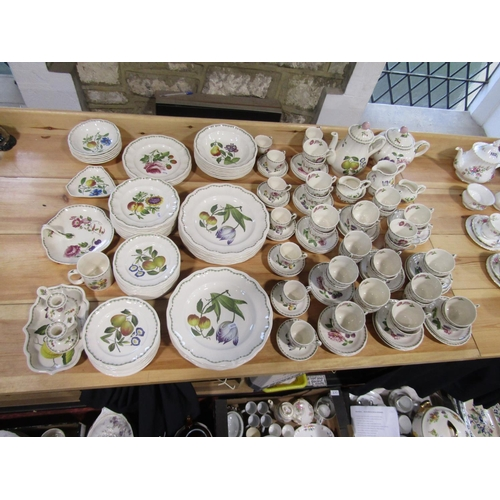 1035 - An extensive collection of Spode Victoria pattern wares including teapot, coffee pot, three jugs, tw...