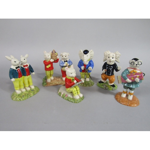 1037 - A collection of six Royal Doulton characters from the Rupert series, Something To Draw RB13, Where D...