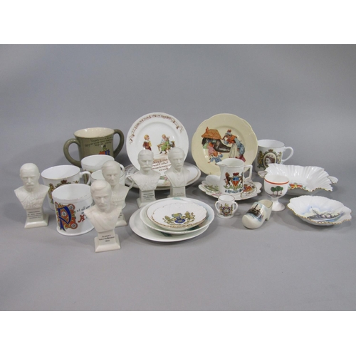 1040 - A collection of Foley and Shelley commemorative wears including a Foley Faience loving cup, five lat...