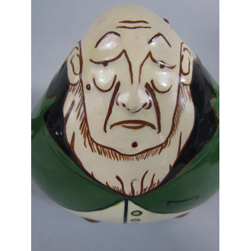 1054 - An unusual Foley Intarsio character teapot and cover in the form of Paul Kruger, with printed marks ...