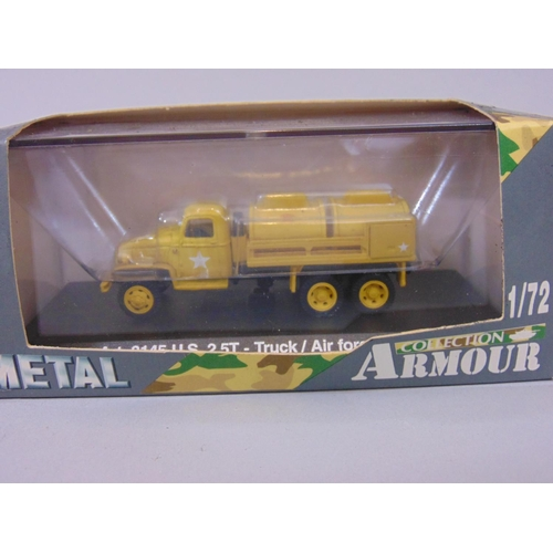 15 - 9 boxed die-cast military vehicles from Metal Armour Collection together with a boxed Mk5 Centurion ...