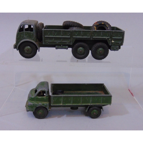 21 - Collection of unboxed military vehicles by Dinky (including some SuperToys) mostly army trucks and w...