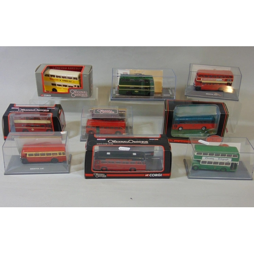 41 - 8 Corgi Original Omnibus models (Double Decker buses),and one by EFE all in original boxes (9)...
