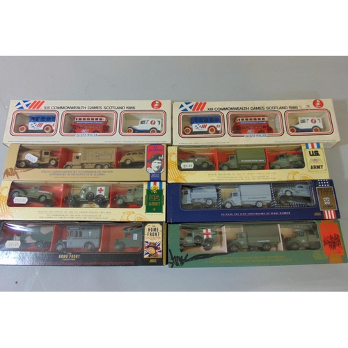 42 - Large collection of boxed Lledo model vehicles including promotional models, 8 commemorative sets, 1...