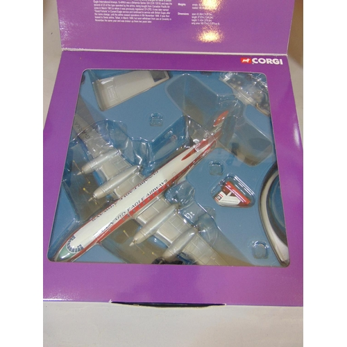 55 - 4 box sets from Corgi Aviation Archive Series including Vickers Viscount 800 and 806, Bristol Britta...