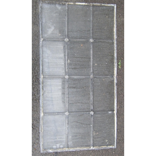 2028 - Nineteen leaded light windows with segmented rectangular panes, two sizes, the slightly larger examp...