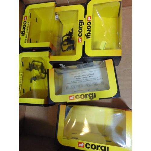 57 - 11 Corgi double decker buses with boxes and a Corgi London Bus & Taxi box set no 1365 (a boxful)...