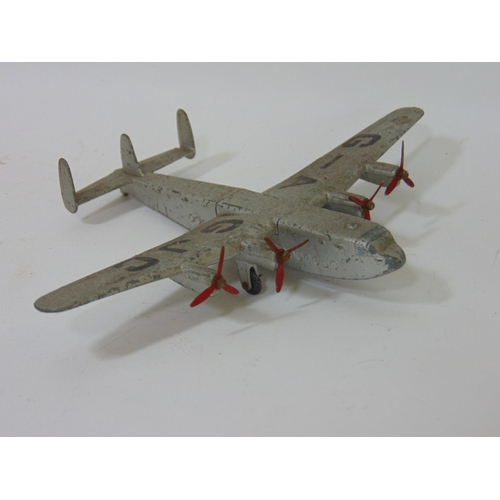 12 - 17 model Dinky toy aircraft including Heavy Bomber, Flying Boat, Beechcraft c55 Baron etc and 3 othe...