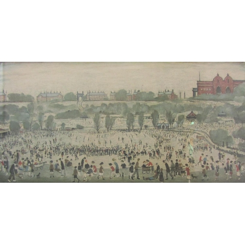 504 - Laurence Stephen Lowry (1887 - 1976, British) - 'Peel Park', signed, blind stamp seal, inscribed to ...