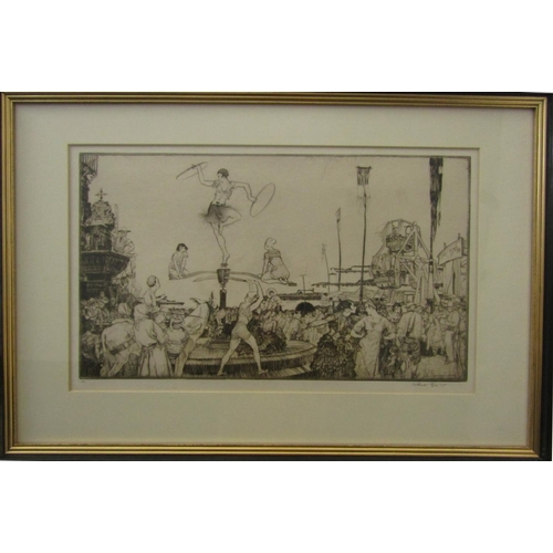 535 - Sir William Russell Flint (1880-1969) - 'Acrobats At Lorca Fair', signed to the margin, numbered LI,...