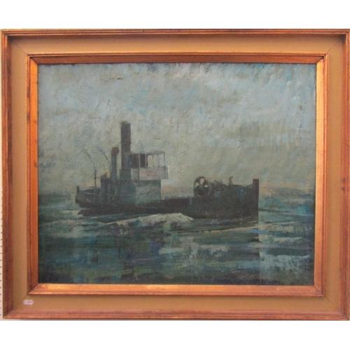 569 - Antony Ashworth Jackson-Stops (1914-1985) - 'Drifter', marine scene, signed and titled verso, oil on...