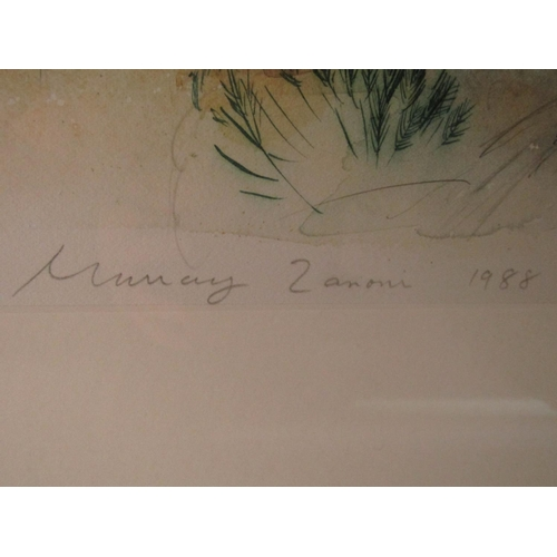583 - Murray Zanoni (B.1947) - 'Hijas, Aragon', signed and dated 1988, watercolour, 70 x 108cm, framed...
