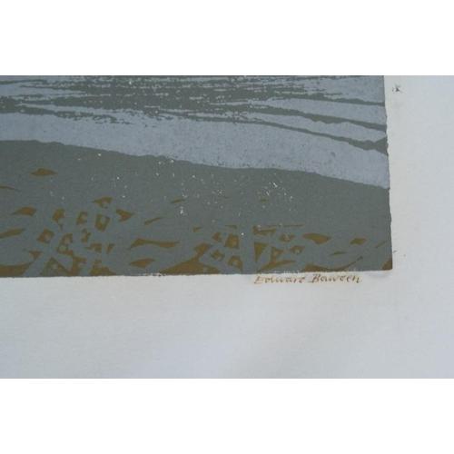 520 - Edward Bawden (1903 - 1989) - 'Albert Bridge', 43/75 lino cut, 66 x 51cm, unframed