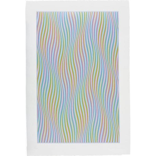 584 - Bridget Riley (Born 1931, British) - 'Elapse', signed, titled and dated 1982, screen print of woven ...