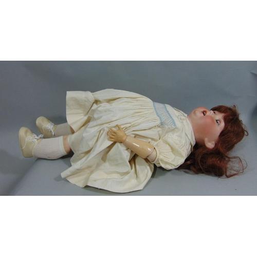 18 - A Heubach Köppelsdorf bisque head doll, impressed  ' Koppelsdorf DRGM Thuringia', with chubby face, ...