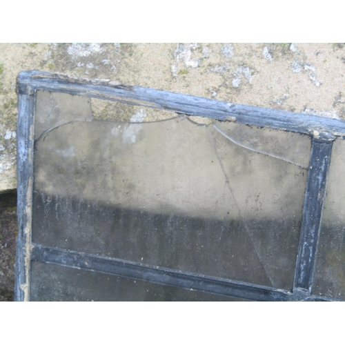 2034 - Nineteen leaded light windows with segmented rectangular panes, two sizes, the slightly larger examp...