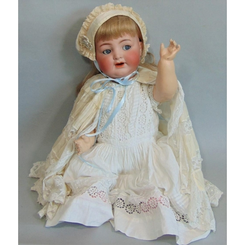23 - Large Dolly face baby doll by Simon & Halbig for Kammer & Rheinhardt, impressed nos 26 and 62 with b...