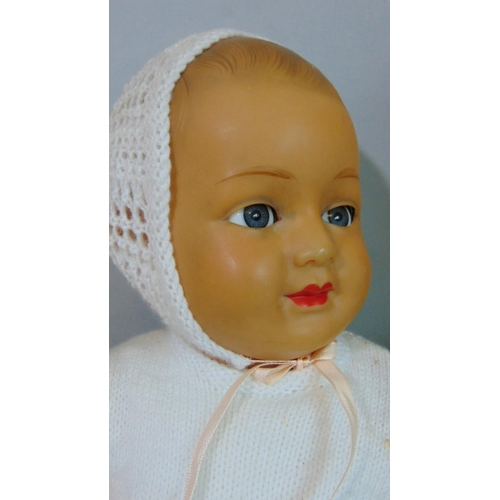 54 - 2  vintage celluloid dolls including early 20th century French doll by SIDC -(Societe Industrielle d...