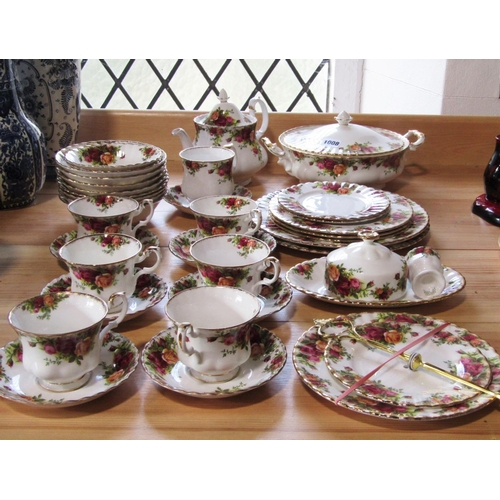 1008 - A collection of Royal Albert Old Country Roses pattern wares comprising two handled tureen and cover...