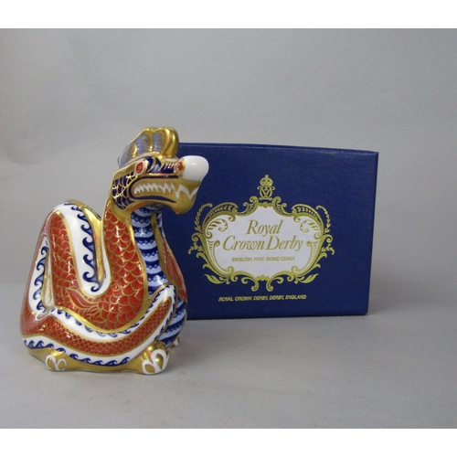 1057 - Three Royal Crown Derby paperweights with imari type decoration - Garden Snail (limited edition) Sna...