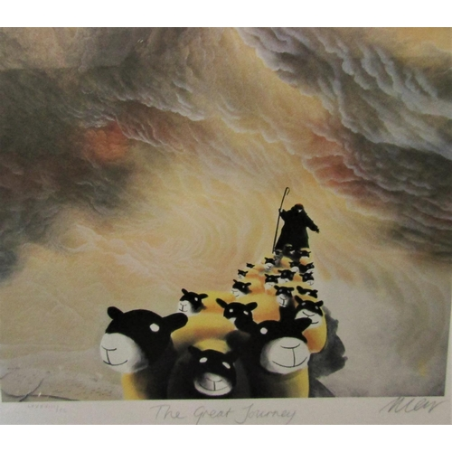 589 - Mackenzie Thorpe (B.1964) - 'The Great Journey', signed, limited edition lithograph print, 80 x 45cm...