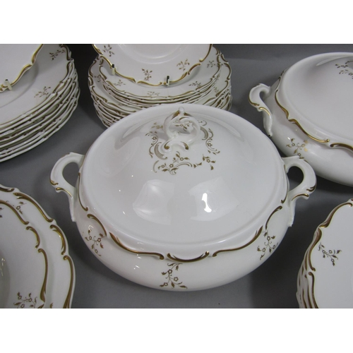 1022 - A collection of Royal Doulton Montaigne pattern dinnerwares comprising pair of two handled tureens a...