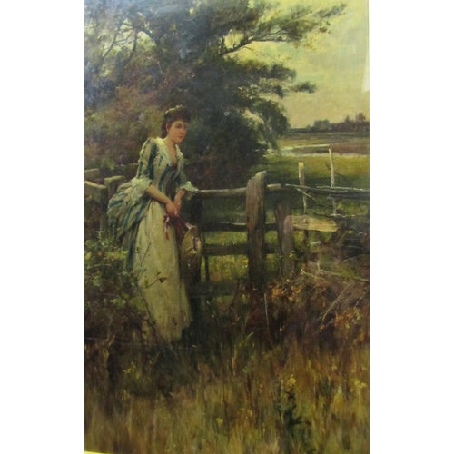 272 - Alfred Augustus Glendening Junior (British 1861-1907) - The Trysting Place, oil on canvas, signed wi...