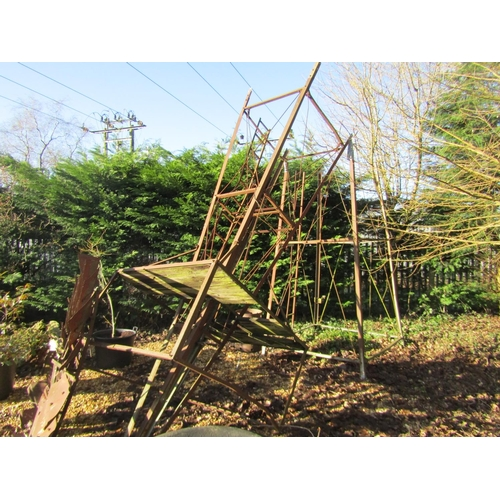 1960 - Vintage windmill, the mill 90 cm diameter, with tapering framework and pumping gear...