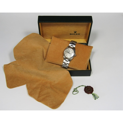 531 - Gent's Rolex Oyster Perpetual Air-King precision wristwatch, c.1980, model 5500, serial 6691505, ref...
