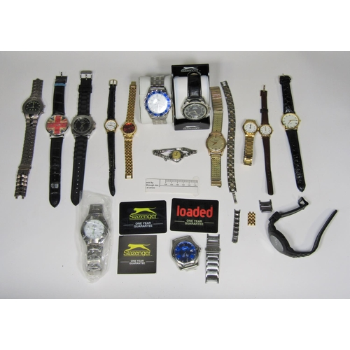 532 - A mixed lot of mainly gent's wristwatches to include two Slazenger examples and others (collection)...