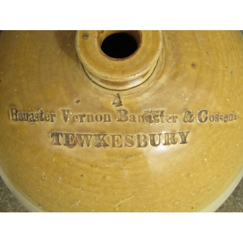 2012 - A 19th century four gallon stoneware two tone flagon with impressed merchants mark for Bannister Ver...