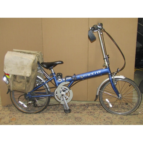 2026a - AVC Speed Metro folding bicycle, with seven speed Shimano gearing...