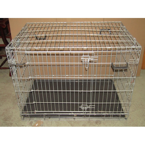 2006 - A Savic 'Pets Favourite' folding and portable dog crate, 107cm wide x 72cm deep x 80cm high approx...