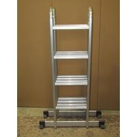 An aluminium multi purpose folding and adjustable ladder
