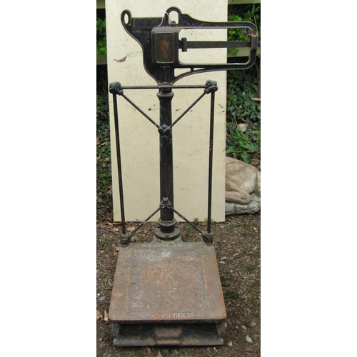 2 - A set of W & T Avery heavy sack scales with cast iron framework...
