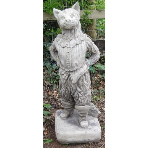 8 - Reclaimed figure of puss in boots, 85 cm approx...