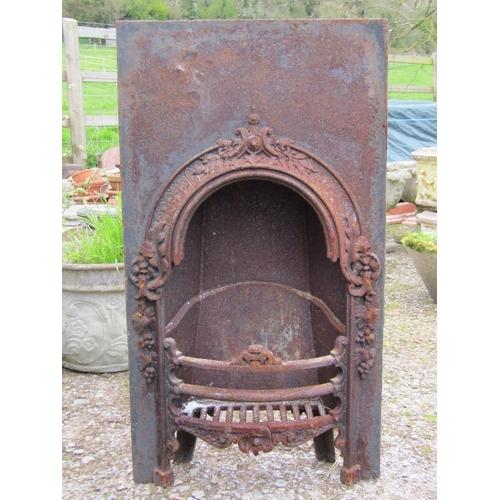 30a - A cast iron Victorian fire insert...
