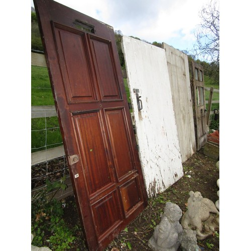 22a - Five reclaimed doors, exterior and interior (5)...