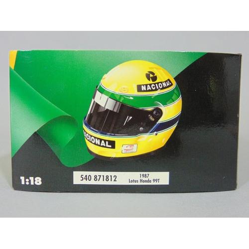 2 - Minichamps 1987 Lotus Honda 99T Ayrton Senna Formula 1 model racing car,  by Pauls Model Art, 1:18 s...